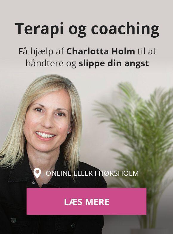 Terapi og coaching mod angst af Charlotta Holm